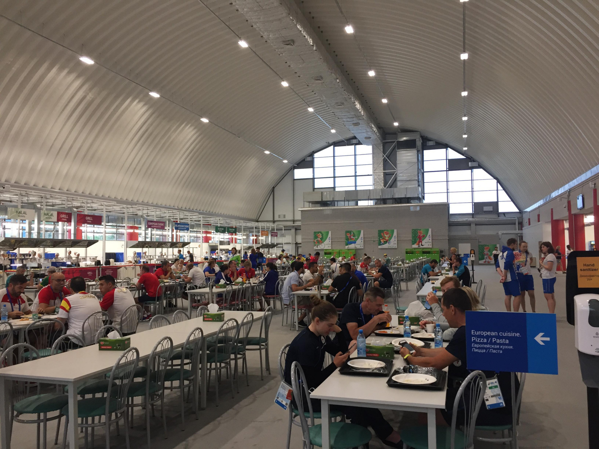 The Athletes' Village boasts a newly-constructed canteen ©ITG