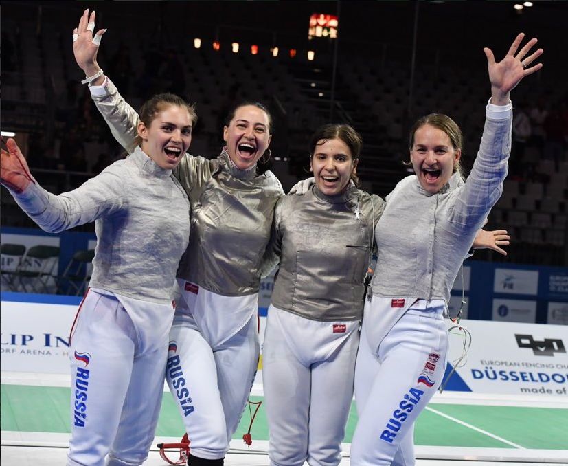 Russia retain women's team sabre at European Fencing Championships as France triumph in men's foil