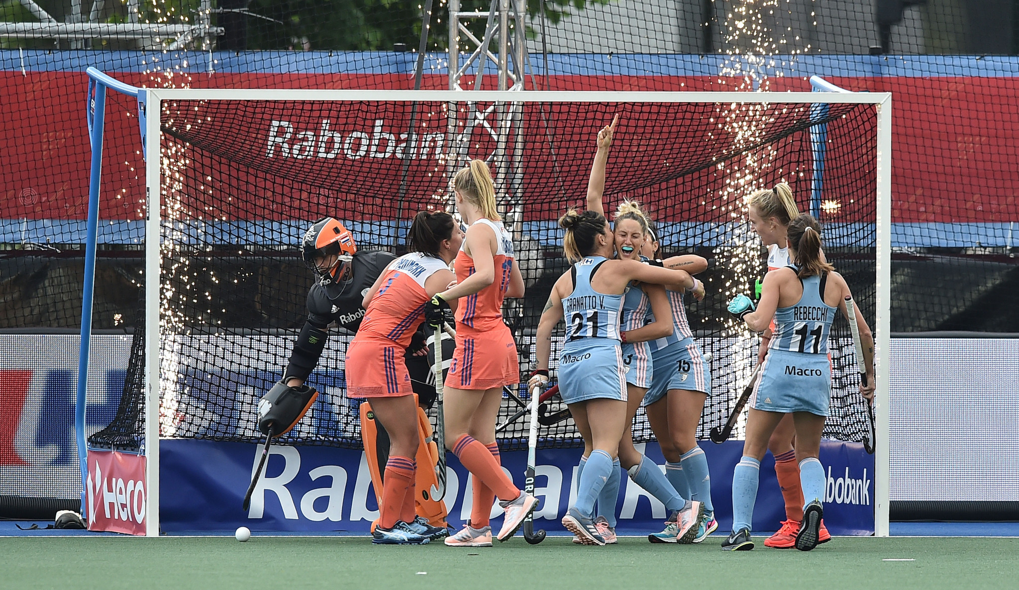Argentina took the lead before the Dutch completed a quick-fire comeback ©Getty Images