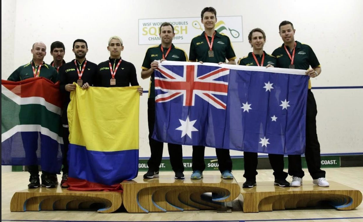 Cameron Pilley and Ryan Cuskelly defended their men's world title at the WSF World Doubles Championships ©WSF