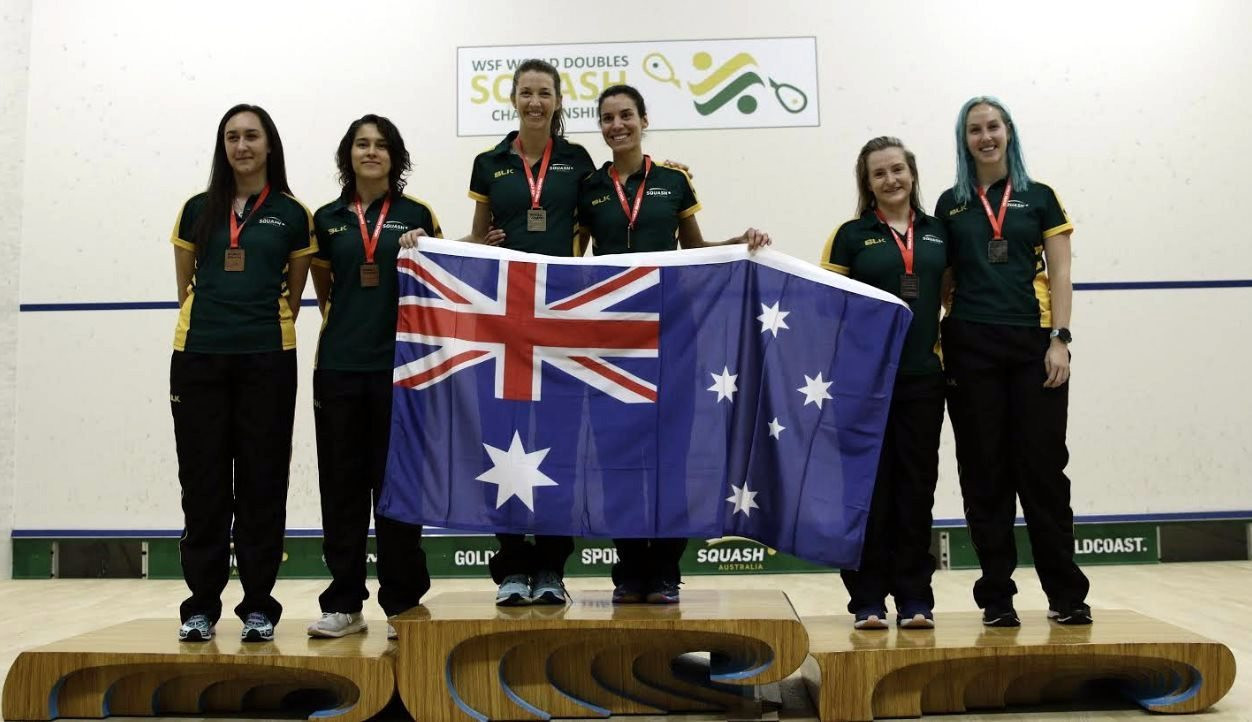 Donna Lobban and Christine Nunn won the women's doubles in a clean sweep for Australia ©WSF