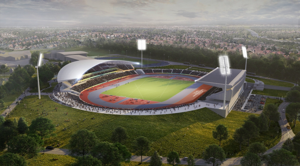 Alexander Stadium will host 18,000 spectators in its post-Birmingham 2022 mode ©Birmingham City Council