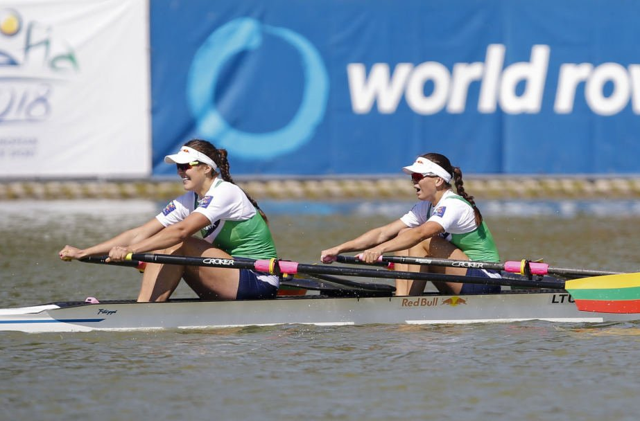 Women's world double sculls champions out of medal contention on opening day of World Rowing Cup event in Poznań