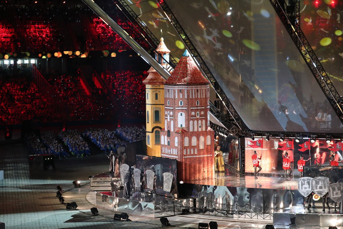 Performances during the Ceremony focused on Belarusian culture and history ©Minsk 2019