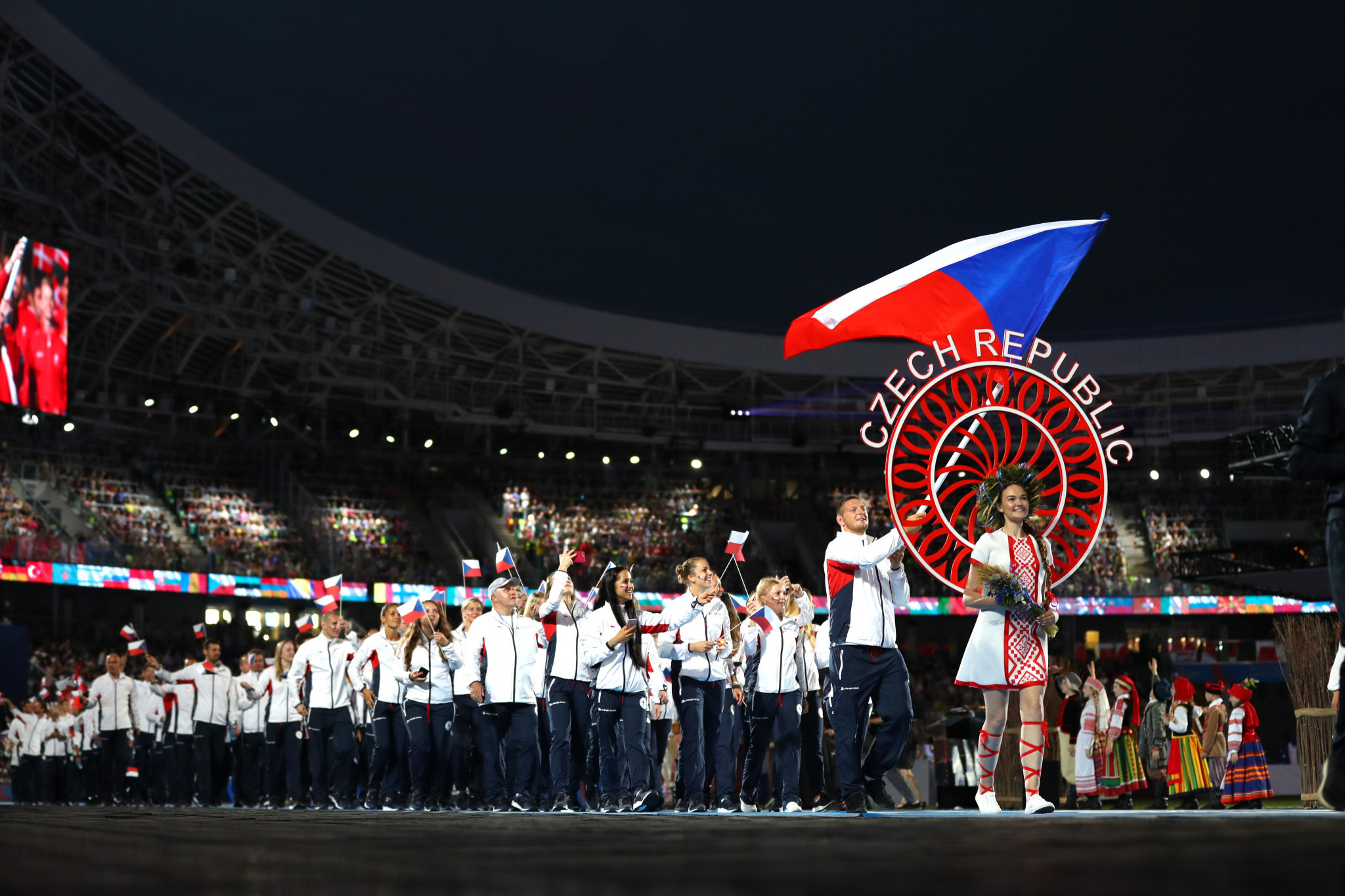 An Athletes' Parade also took place during the Opening Ceremony ©Getty Images