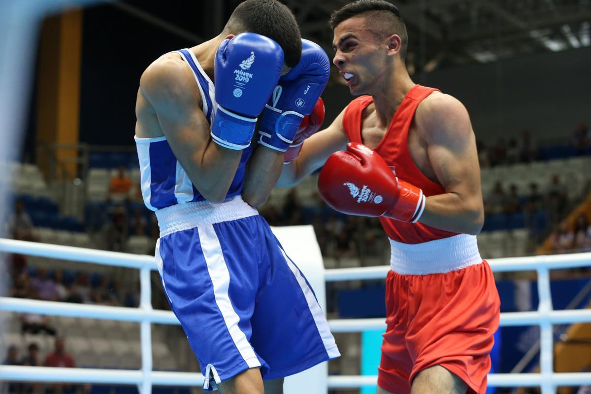 Boxing was the third and final sport to start today, with preliminary-round bouts contested ©Minsk 2019