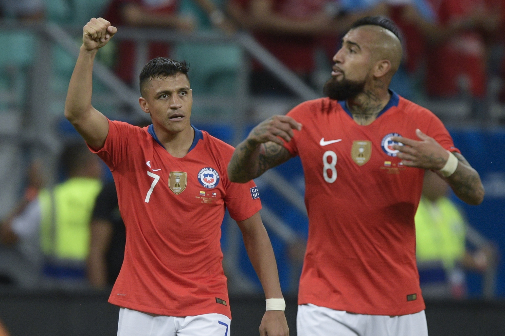 Alexis Sánchez scored in a second successive match as Chile qualified for the quarter-finals of the Copa América ©Getty Images