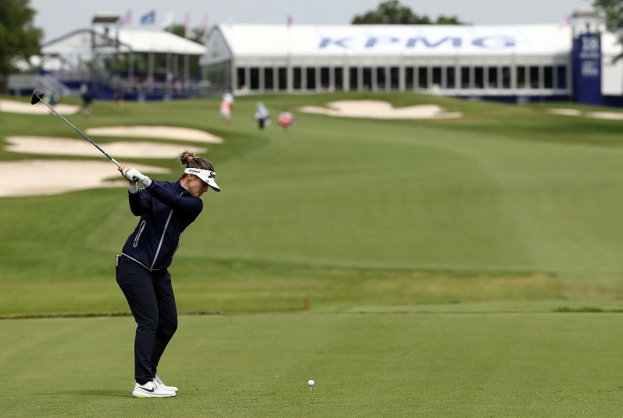 Green moved to seven under par after carding a 69 to add to her opening round of 68 ©Getty Images