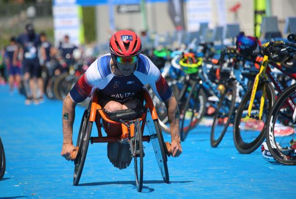 Paviza and Perel earn home golds at Paratriathlon World Cup in France