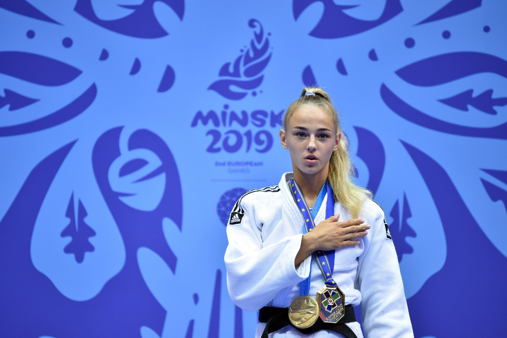 Bilodid beats rival Dolgova and Kosovo win two golds on day one of judo at Minsk 2019 European Games