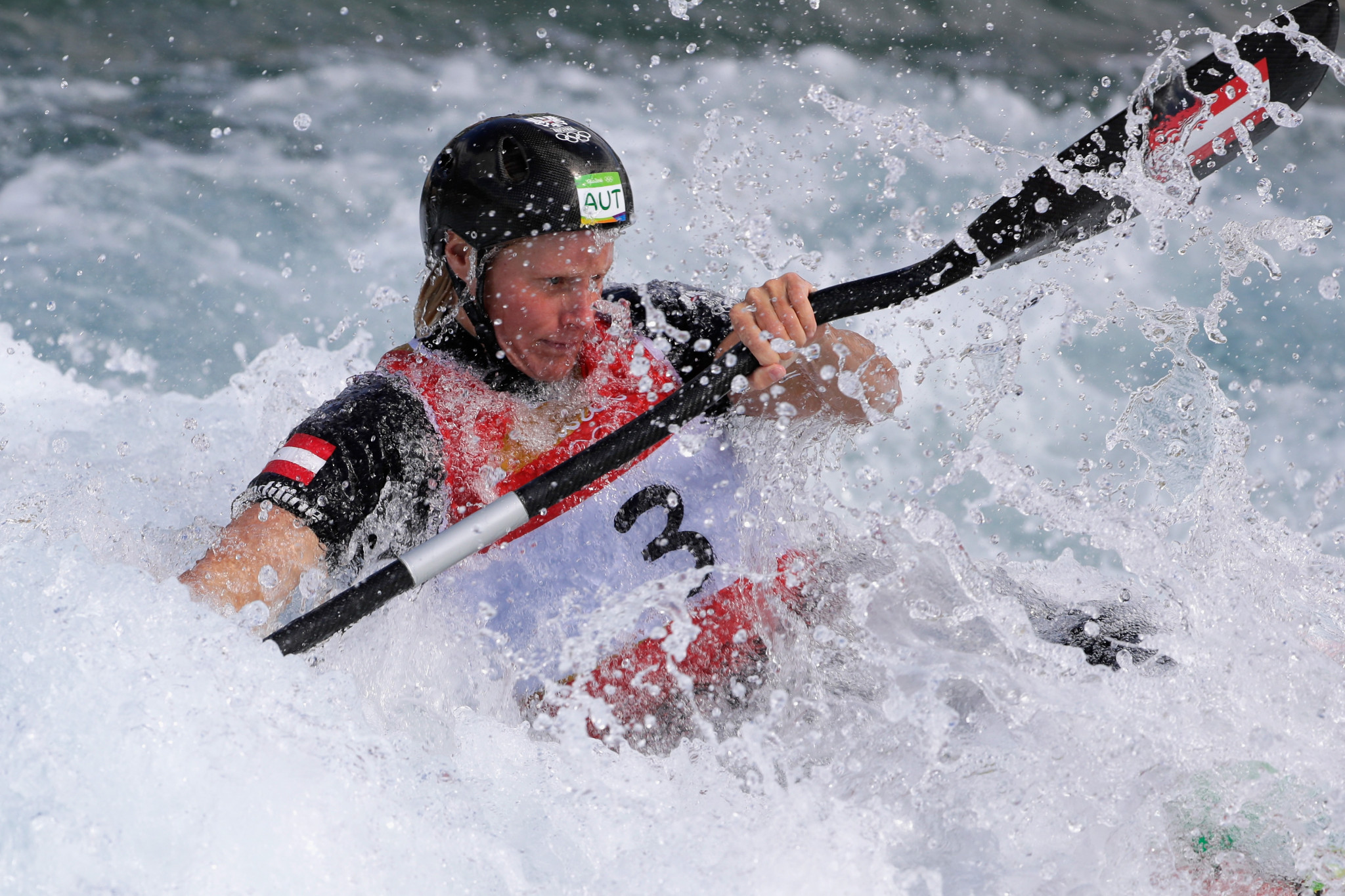 Corinna Kuhnle of Austria enjoyed another golden outing in Bratislava ©Getty Images