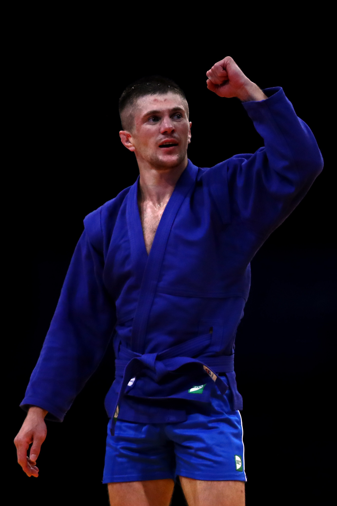 Home athlete Aliaksandr Koksha earned gold with a 5-0 win over Georgia's Mindia Liluashvili in the men's under-68kg category.©Getty Images