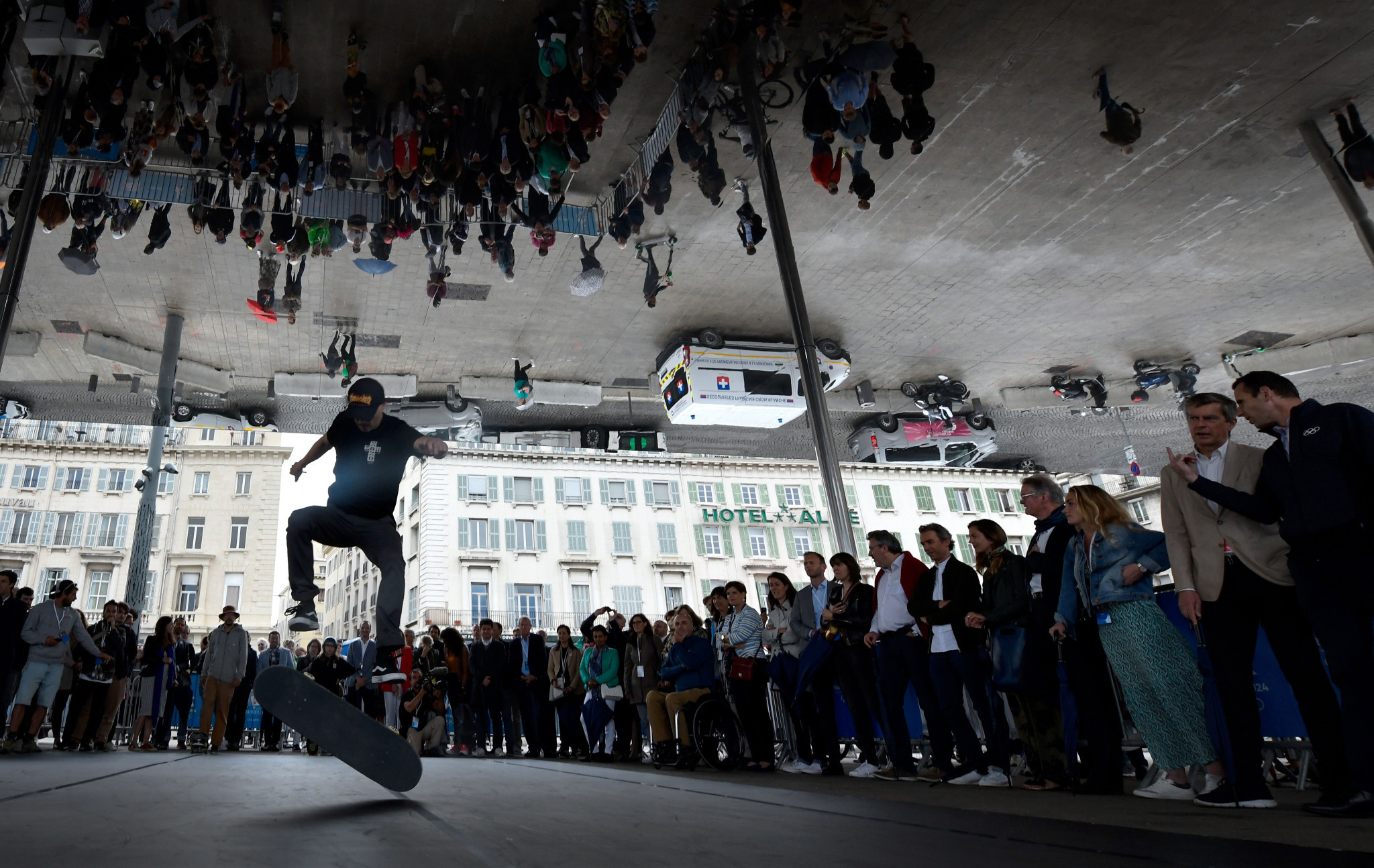 A skateboarding demonstration was given to the IOC Coordination Commission last month ©Getty Images