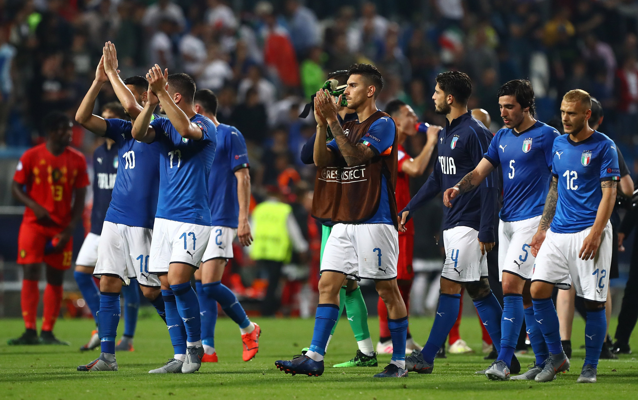 Italy finished as runners-up in the group and could still reach the semi-finals ©Getty Images