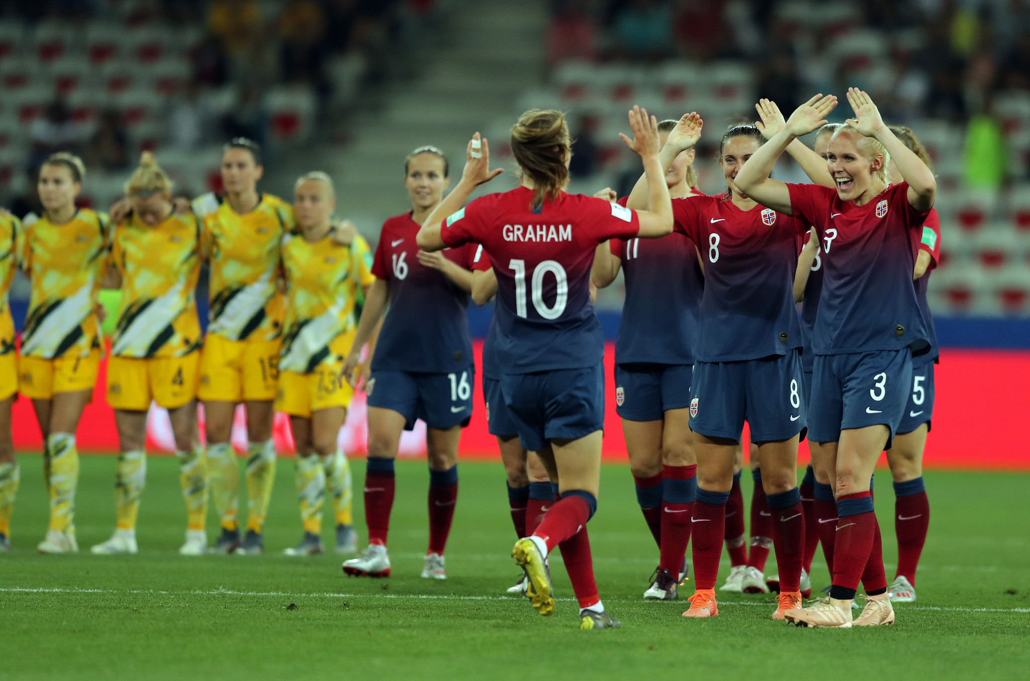 Norway beat Australia on penalties at FIFA Women's World Cup after Germany ease past Nigeria