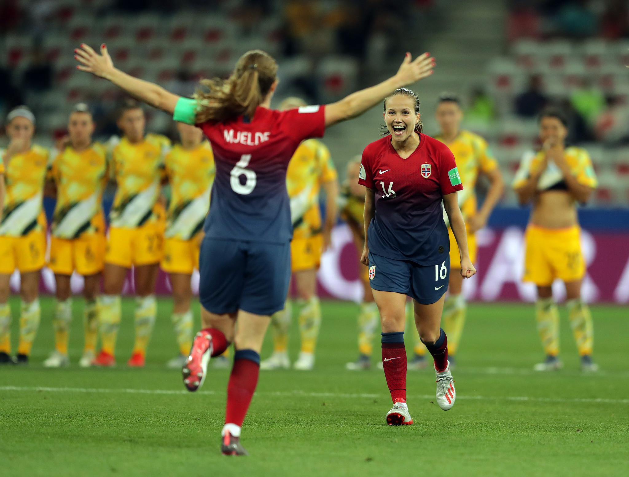 The game went all the way to penalties, with Norway scoring all their efforts to triumph 4-1 ©Getty Images