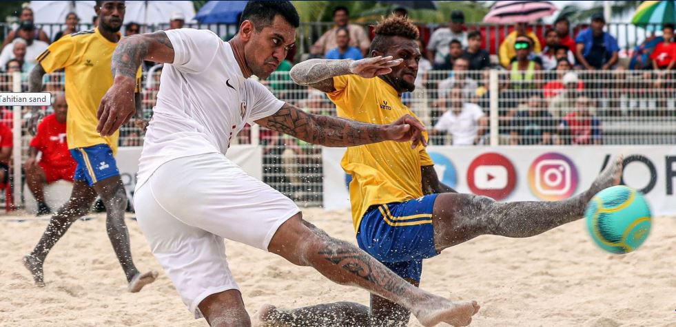 Tahiti claimed a second Oceania Football Confederation Beach Soccer Nations Cup title with victory against Solomon Islands ©OFC Media