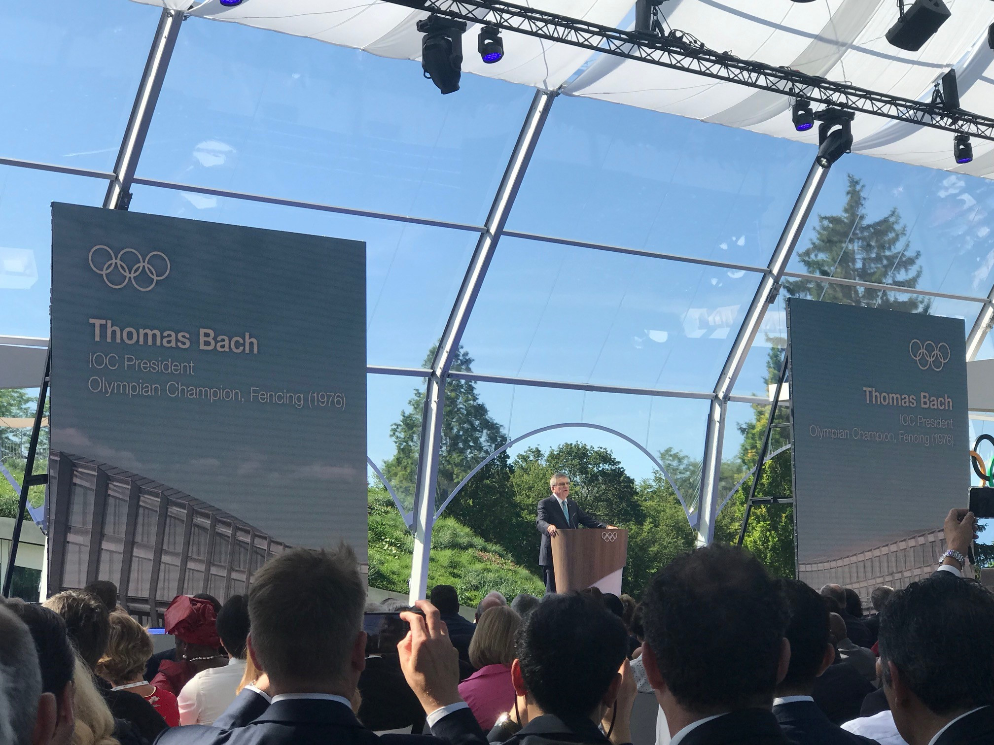 IOC inaugurates new Olympic House headquarters at ceremony in Lausanne