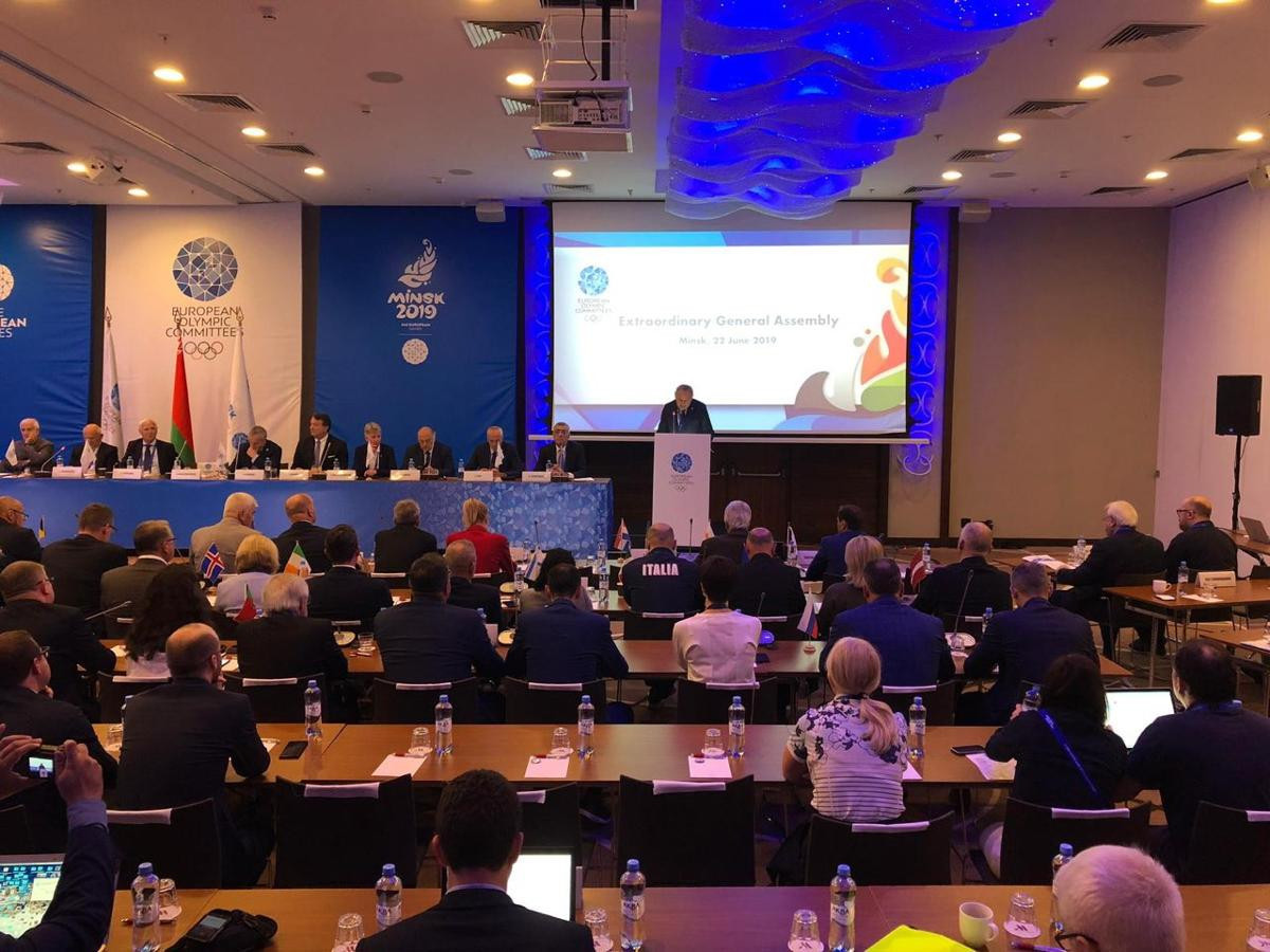 EOC members flew to Lausanne following yesterday's Extraordinary General Assembly here ©Minsk 2019