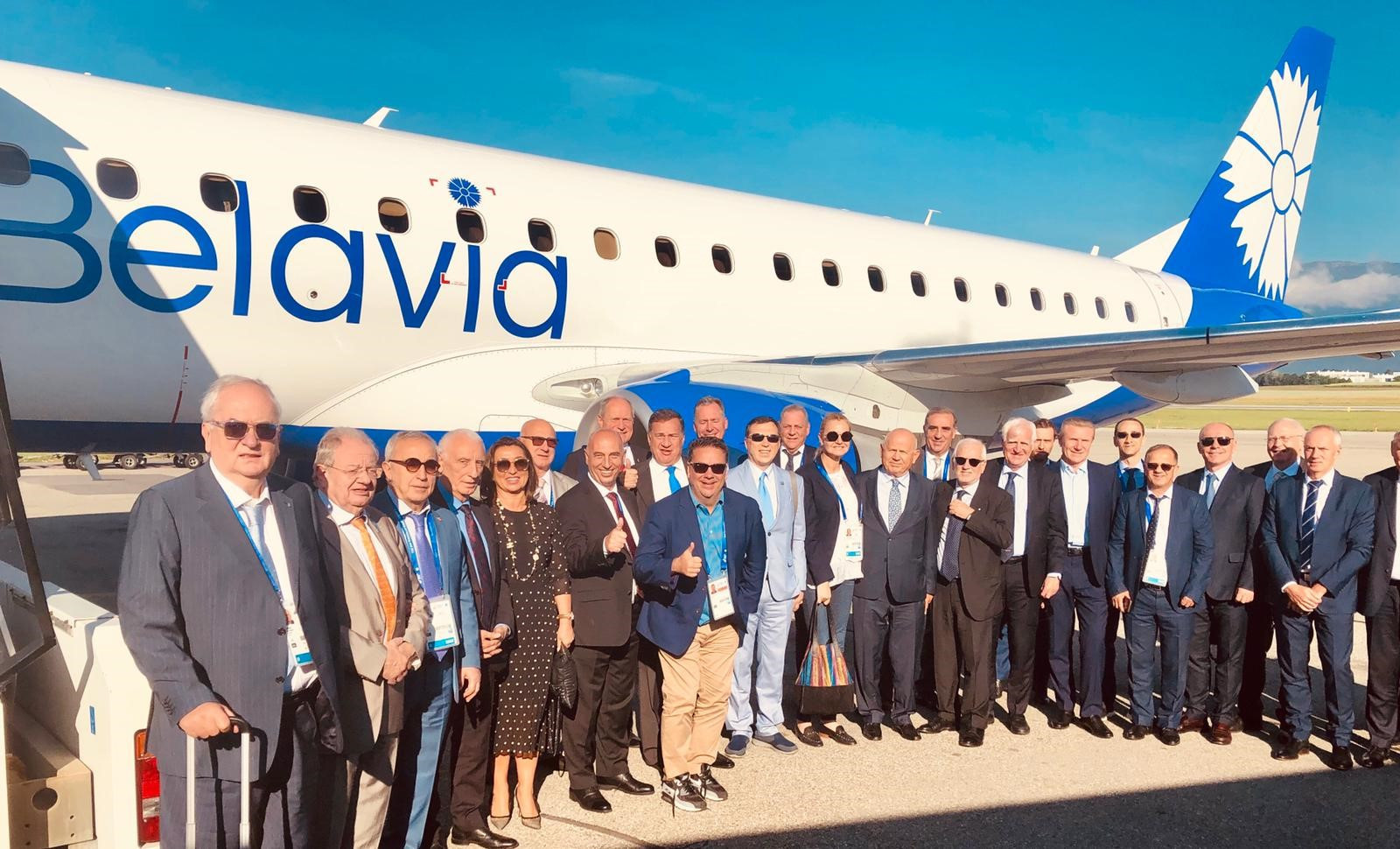 Chartered flight takes EOC members from Minsk to Lausanne for Olympic House inauguration