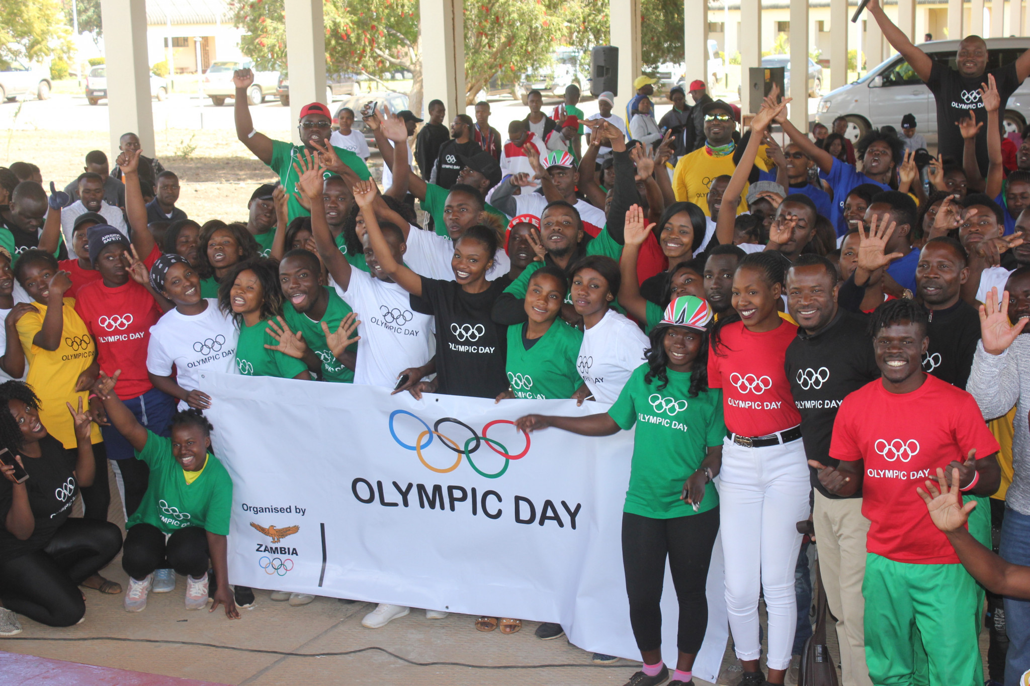 Activities in Kabwe in Central Province saw hundreds of people take part in an Olympc Day run, aerobics, hockey and judo events ©NCOZ