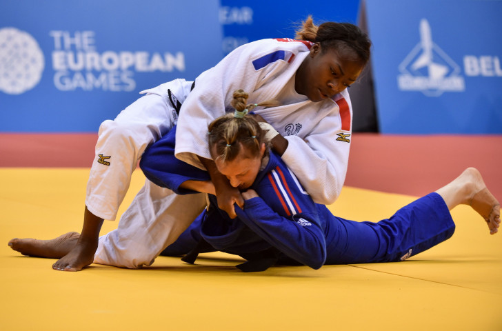 France's world champion Clarisse Agbegnenou won the women's under-63kg final in Minsk today ©Getty Images