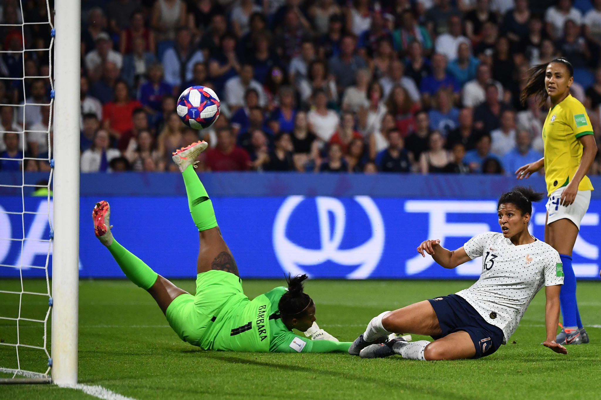 Gauvin eventually got her goal, sliding in to convert a low cross six minutes into the second half © Getty Images
