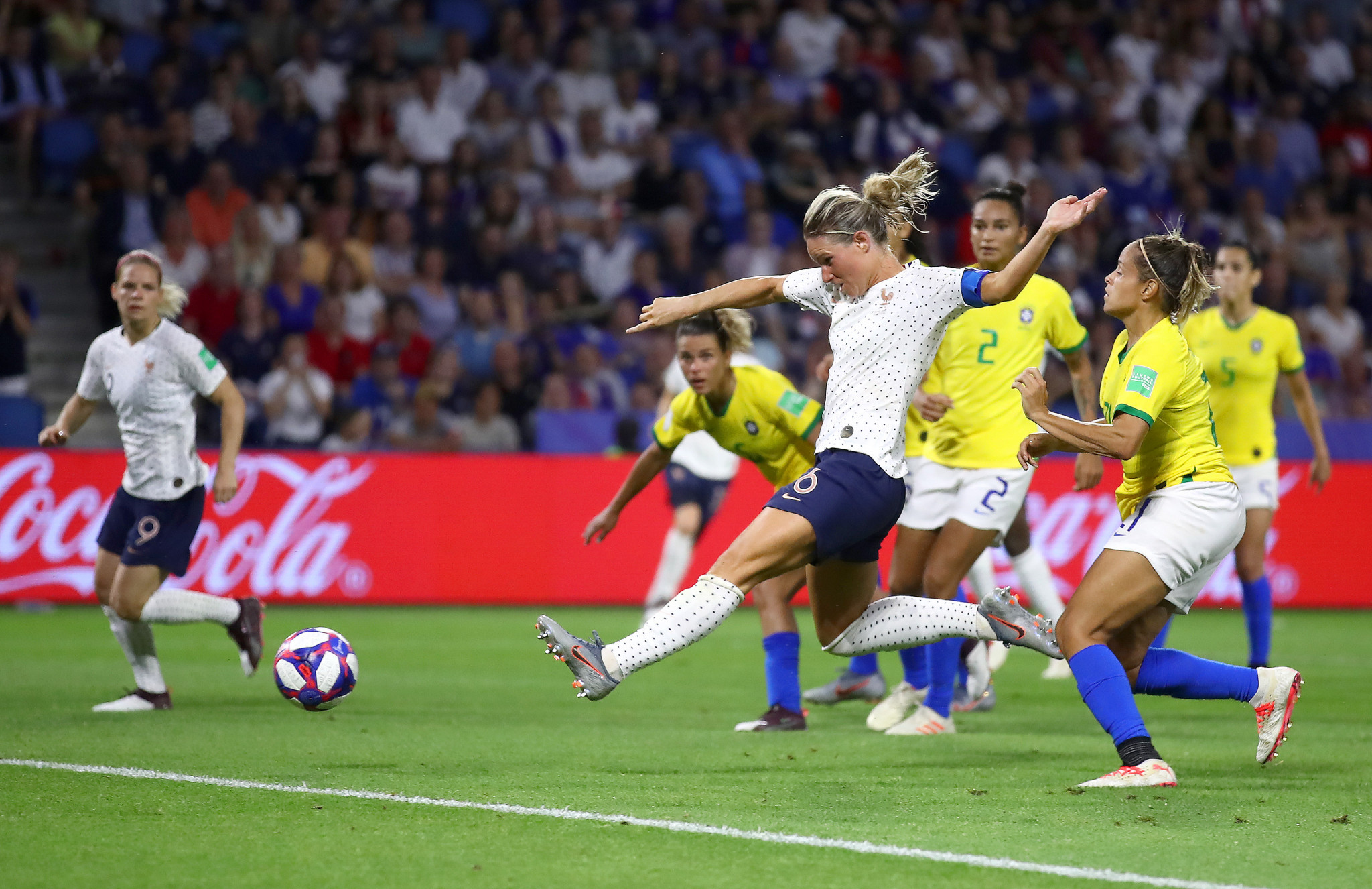 Hosts France battle past Brazil in FIFA Women's World Cup after England beat bad-tempered Cameroon