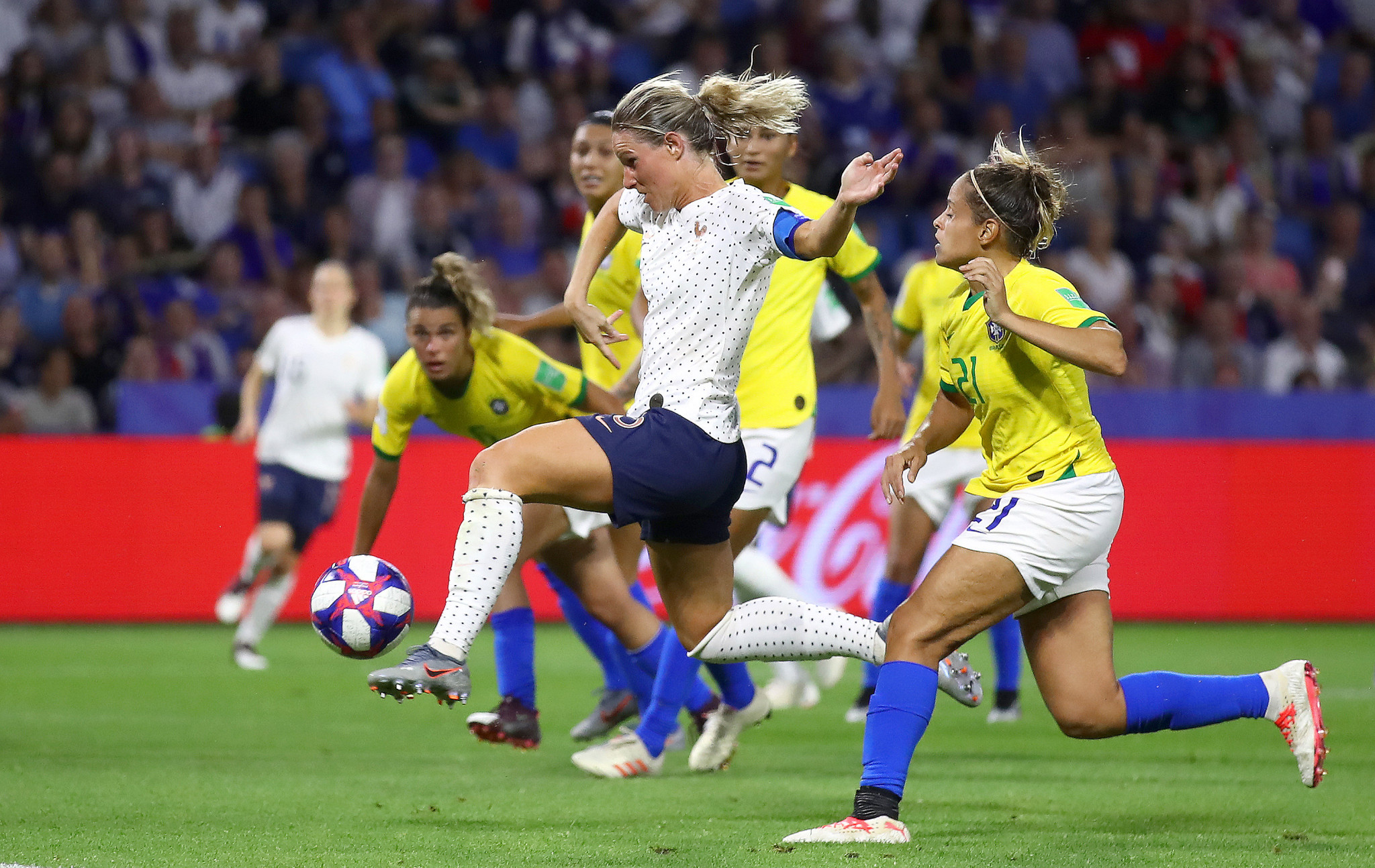The hosts found their winner in the 107th minute when captain Amandine Henry guided home a free kick © Getty Images