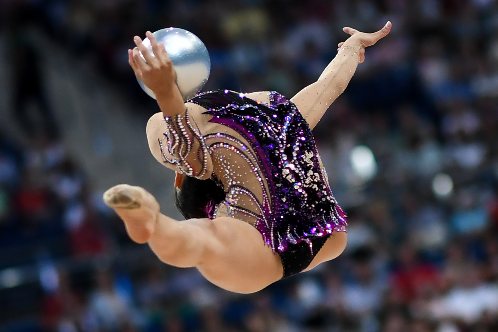 Israel's Linoy Ashram was the victor in the rhythmic gymnastics ball and clubs ©Getty Images