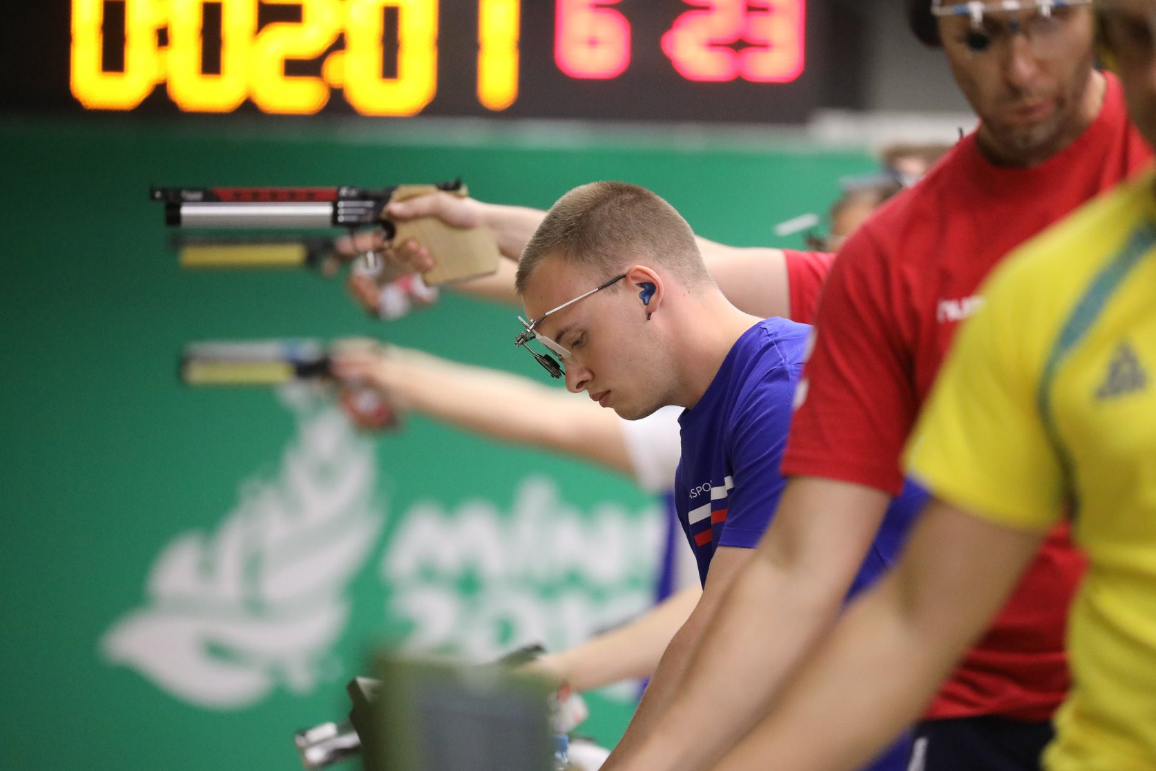 Russia's Artem Chernousov won shooting gold to become the first medallist of Minsk 2019's third day of action ©Minsk 2019