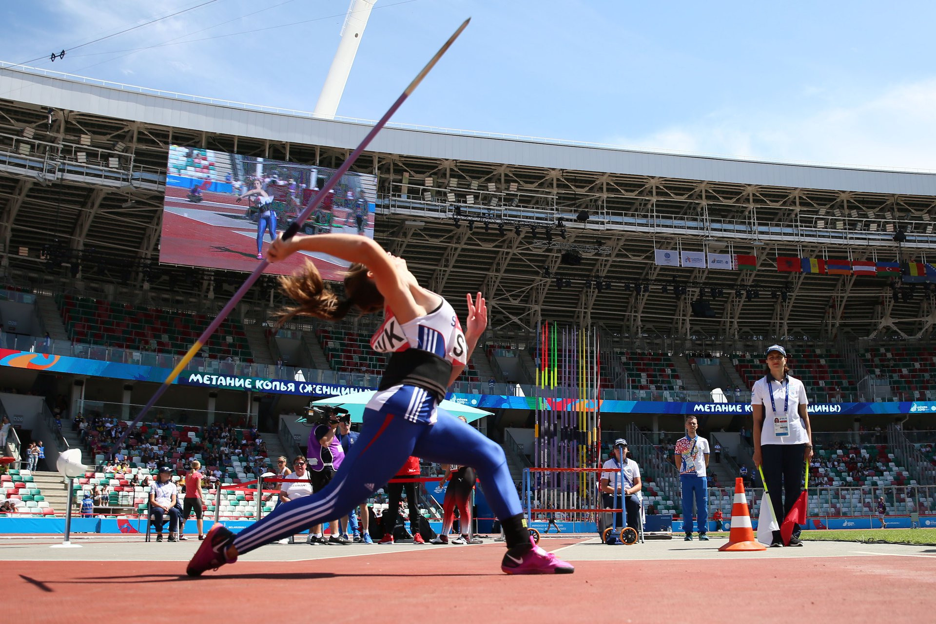 It was a competitive debut for Dynamic New Athletics, which sees athletes compete in teams across track and field events ©Minsk 2019