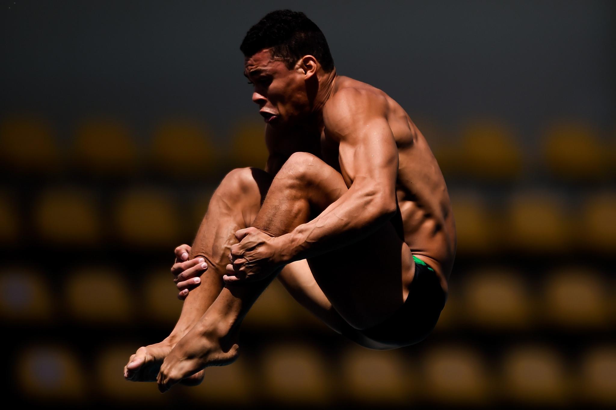 Puerto Rico's Rafael Quintero Diaz was the men's 10m platform gold medallist ©Getty Images
