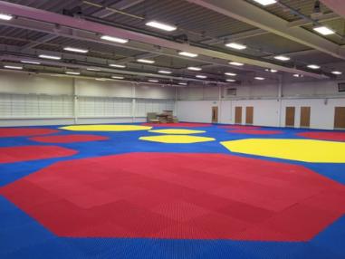 GB Taekwondo's main training hall undergoes makeover using mats from 2019 World Championships