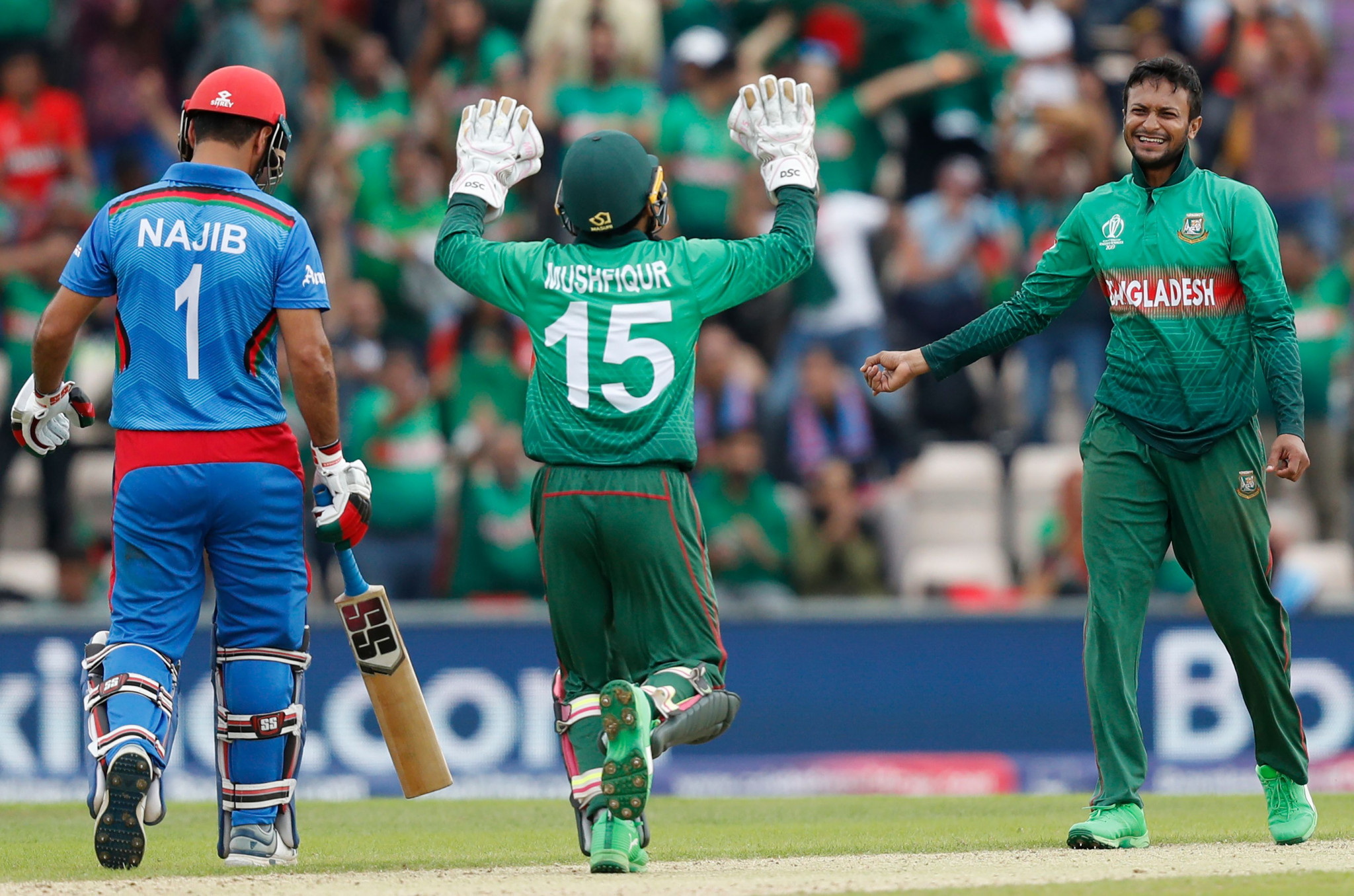 Bangladesh beat Afghanistan to remain in hunt for semi-final place at ICC Cricket World Cup