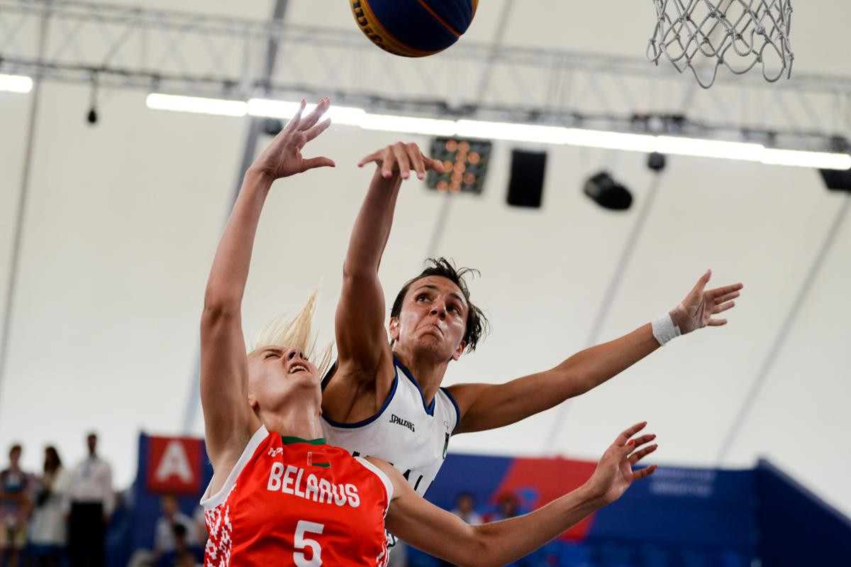 Hosts Belarus managed to secure a bronze medal in both the men and women's 3x3 basketball ©Minsk 2019