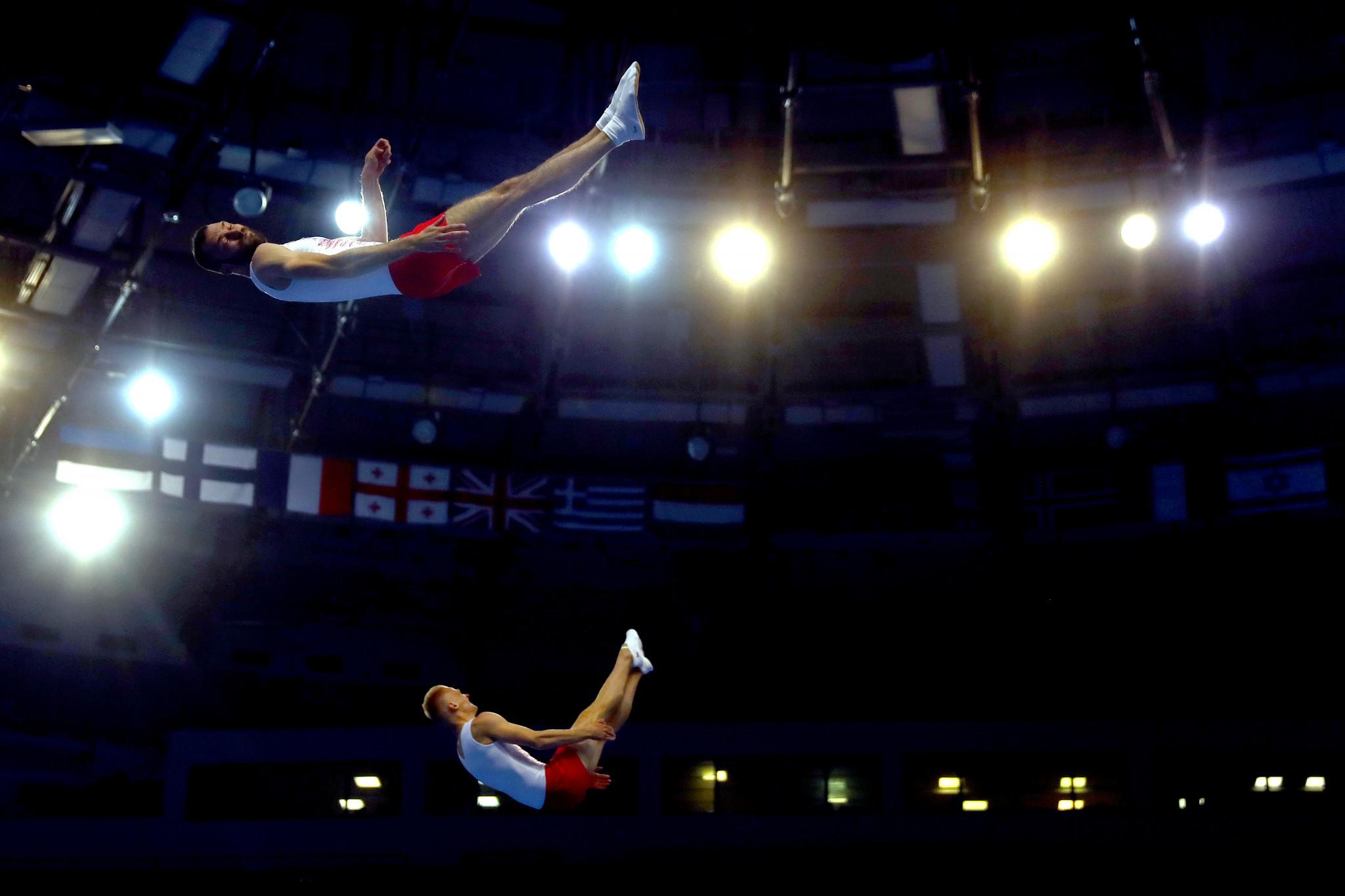 Polish pair strike gold as trampoline gymnastics begins at Minsk 2019