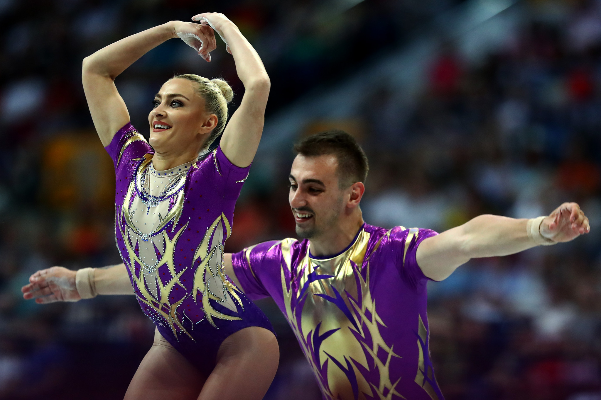 Finishing just behind them was Romania's Dacian Nicolae Barna and Andreea Bogati ©Getty Images