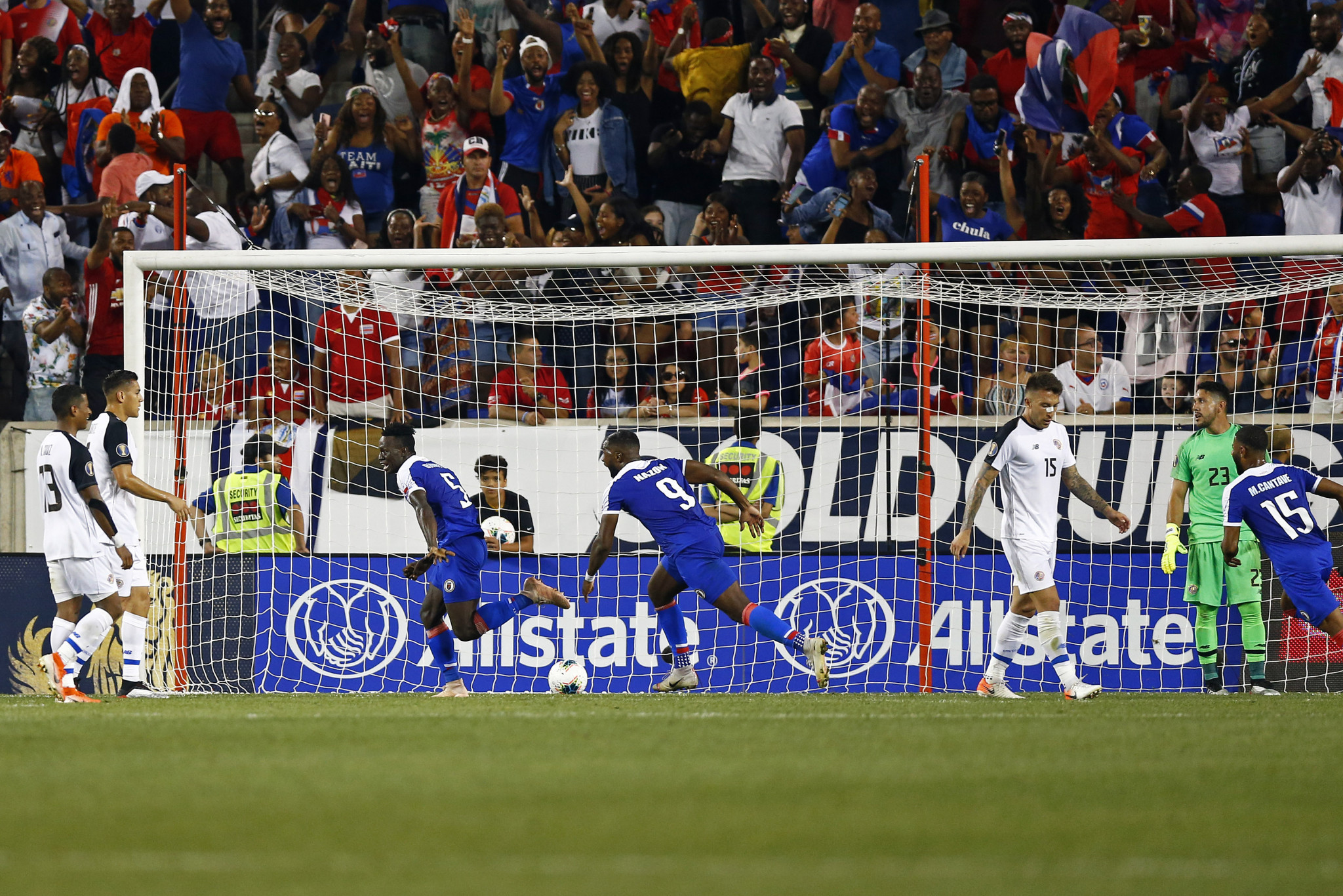 Djimy-Bend Alexis scored at both ends as Haiti finished top of Group B  ©Getty Images