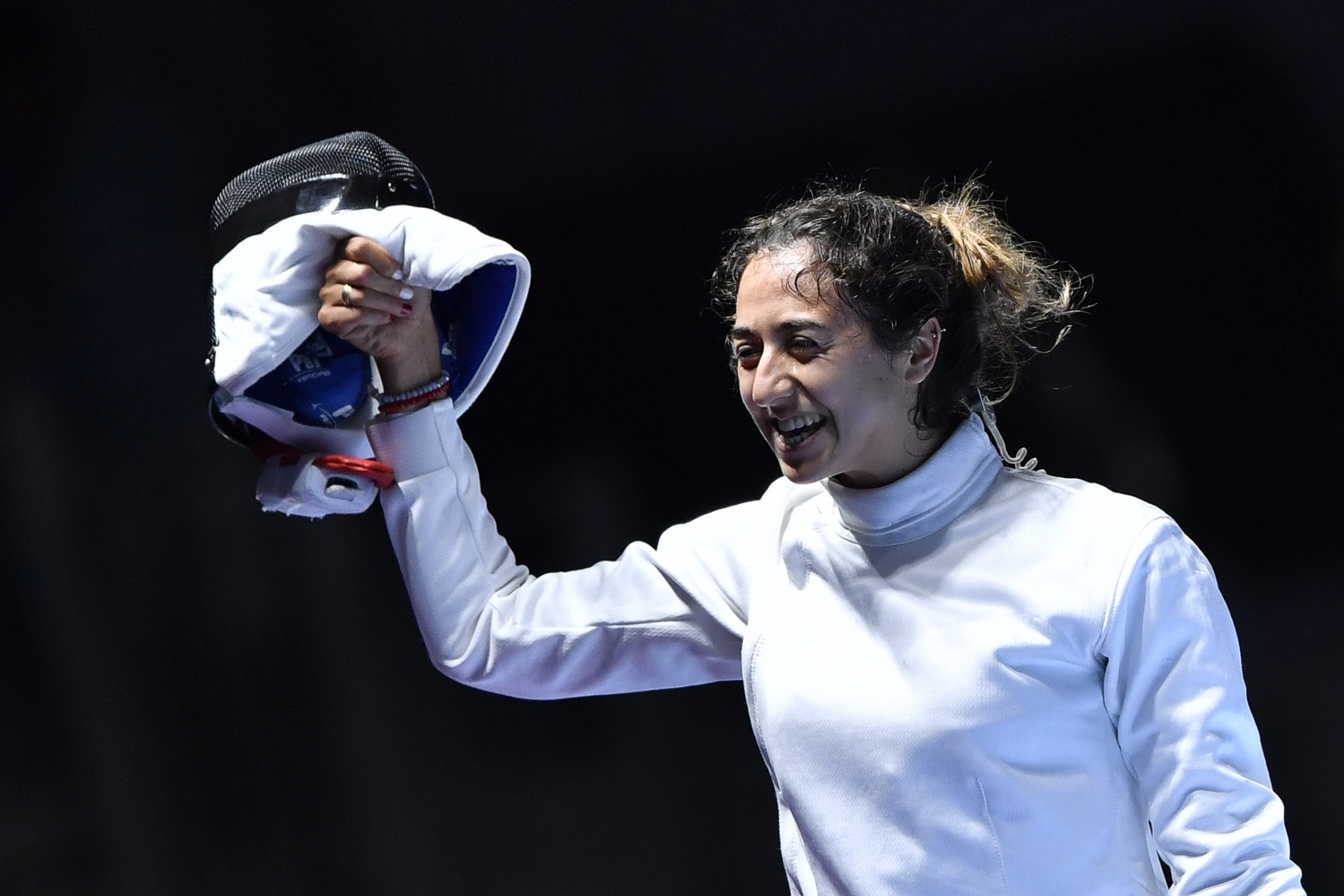 Tunisia's Sarra Besbes won a ninth African title in the women's épée ©Getty Images