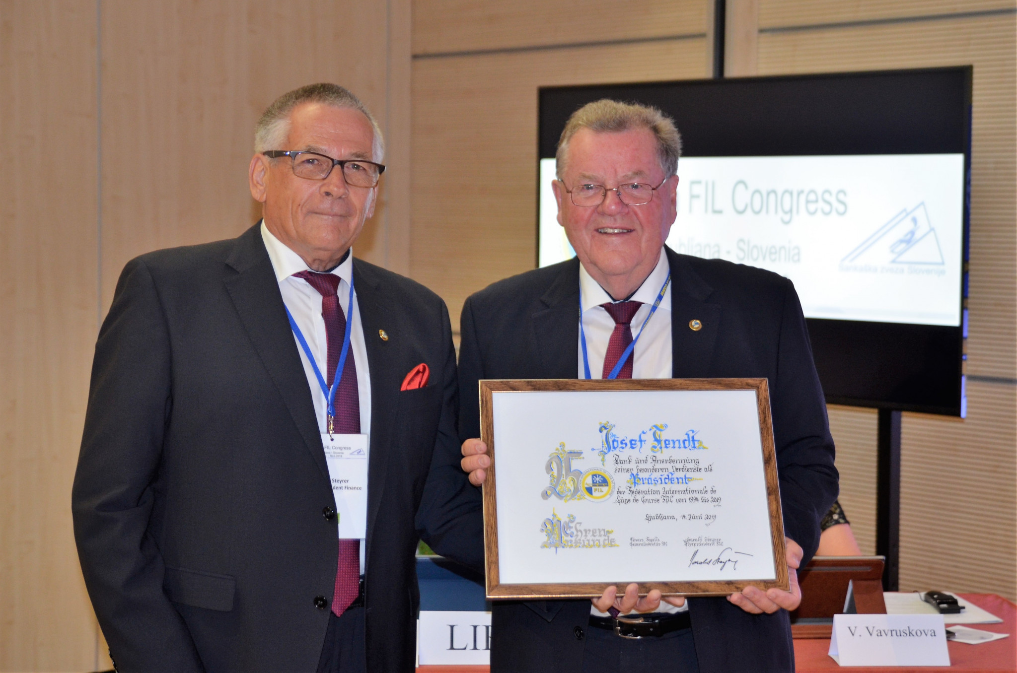 Fendt celebrates 25-year anniversary as President of International Luge Federation