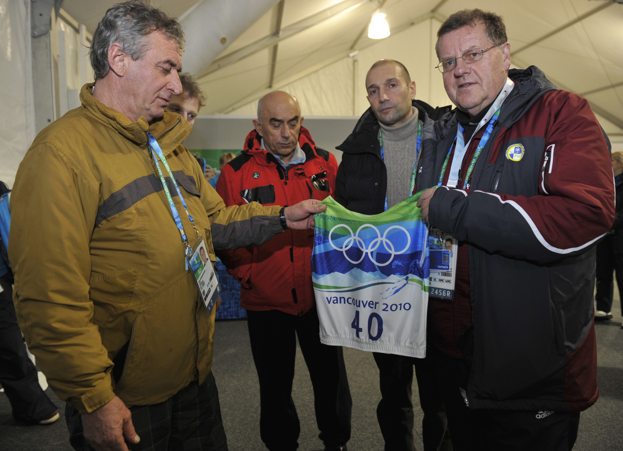 Josef Fendt, right, has stated that the darkest hour of his term in office was the fatal accident involving Georgia's Nodar Kumaritashvili on the opening day of the 2010 Winter Olympics in Vancouver ©Getty Images