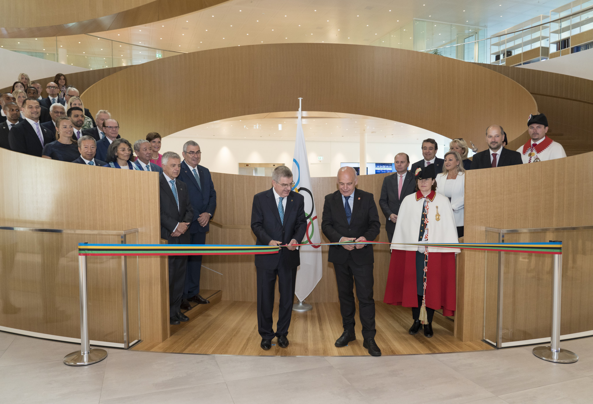 Olympic House was opened in Lausanne on Sunday by IOC President Thomas Bach and Swiss President Ueli Maurer at a special ceremony attended by guests from across the world ©IOC