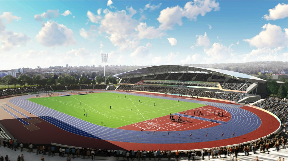Upgrading Alexander Stadium, which will host the Opening and Closing Ceremonies of Birmingham 2022, along with the athletics, is one of three major projects being undertaken in time for the Commonwealth Games ©Birmingham City Council