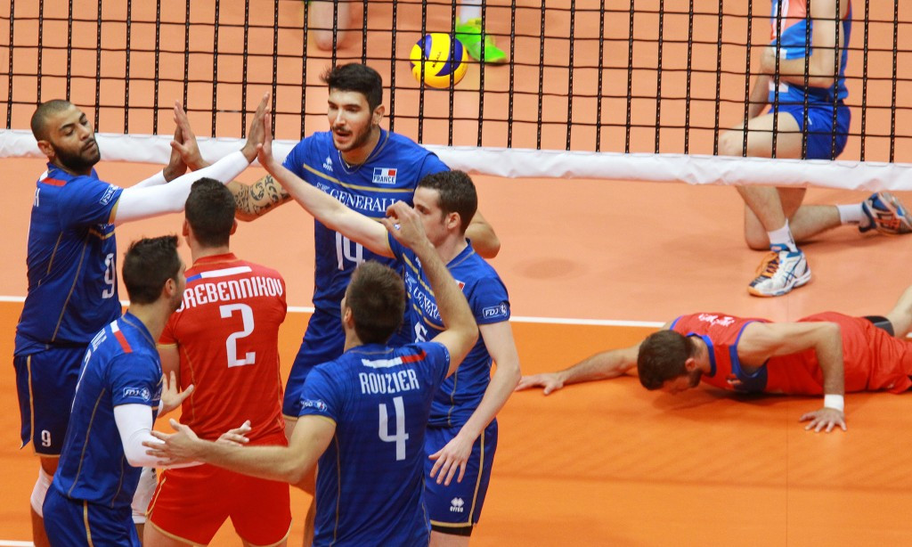 European champions France are due to meet London 2012 gold medallists Russia on day two of the men's event ©CEV