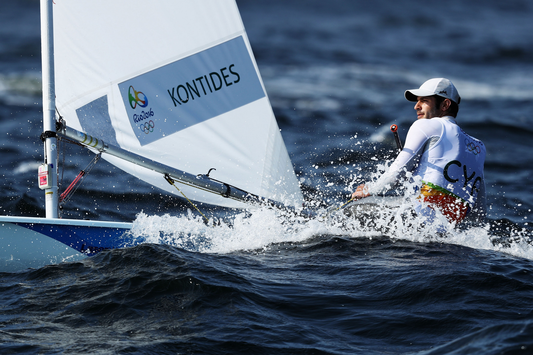 Pavlos Kontides of Cyprus won the men's World Sailor of the Year prize in 2018 ©Getty Images