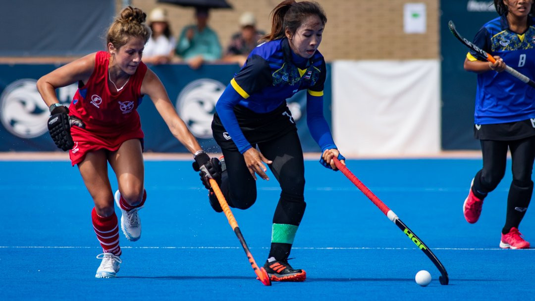 Thailand beat Namibia 2-1 in the seventh-place play-off ©FIH