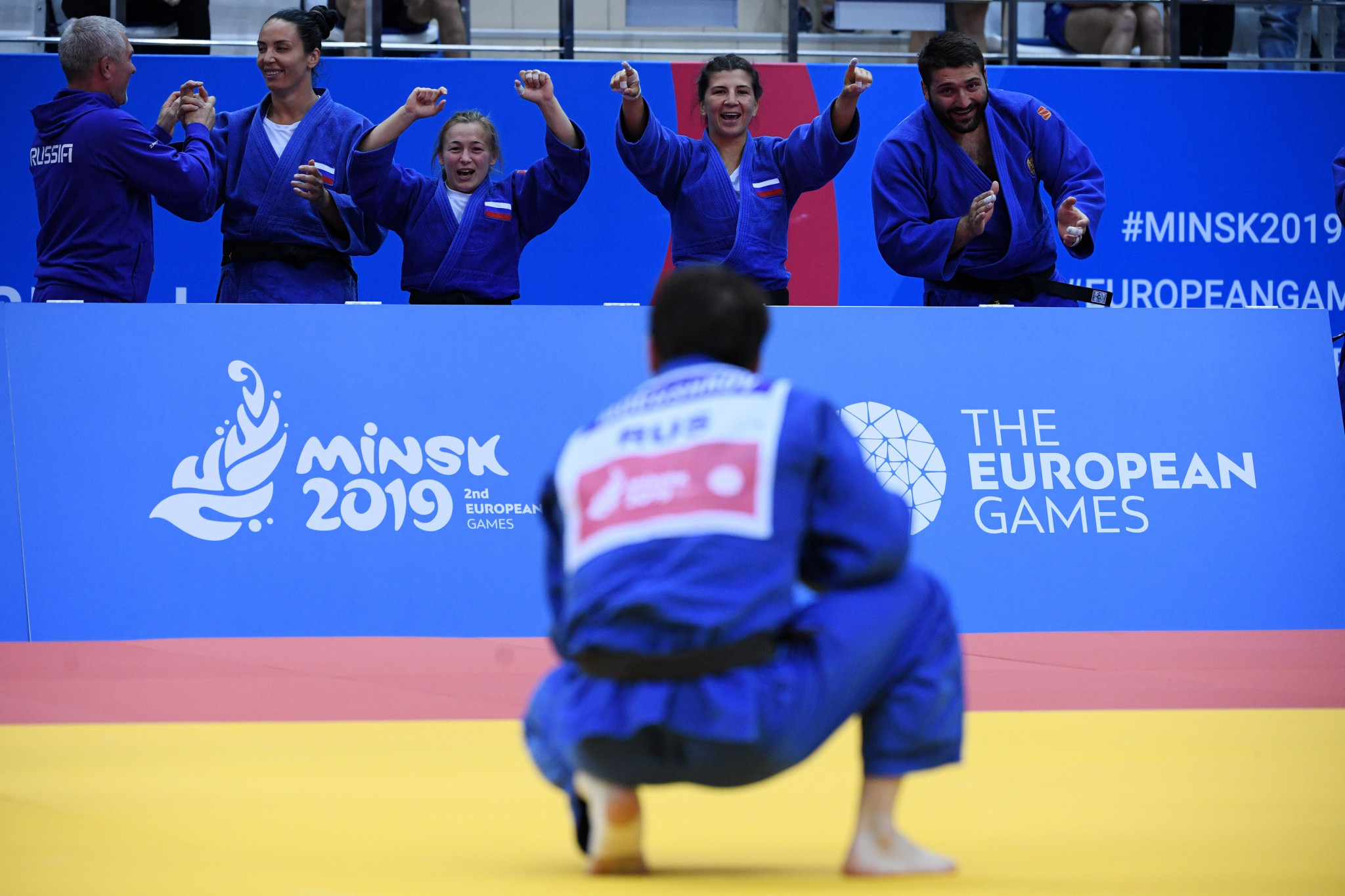 Mogushkov's golden score heroics complete dramatic judo mixed team victory for Russia at Minsk 2019