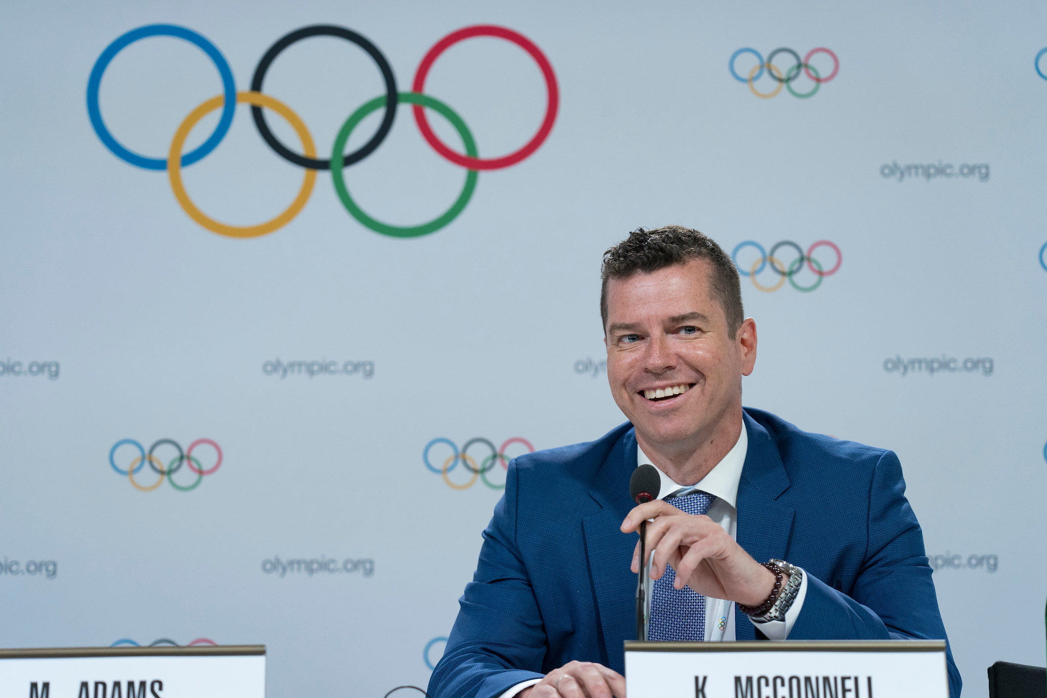 IOC sports director Kit McConnell provided an update on the AIBA situation to the Session ©IOC