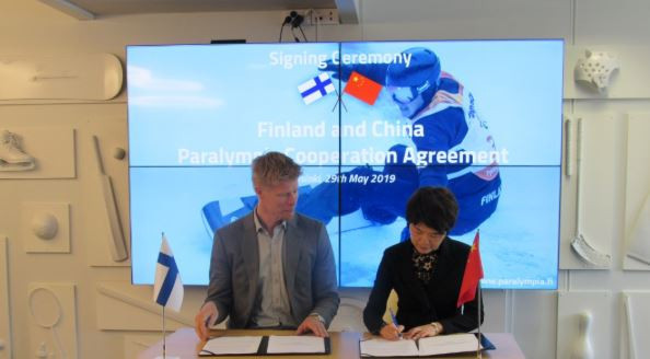 Finland and China strengthen ties by signing agreement to collaborate on 2022 Winter Paralympic Games in Beijing